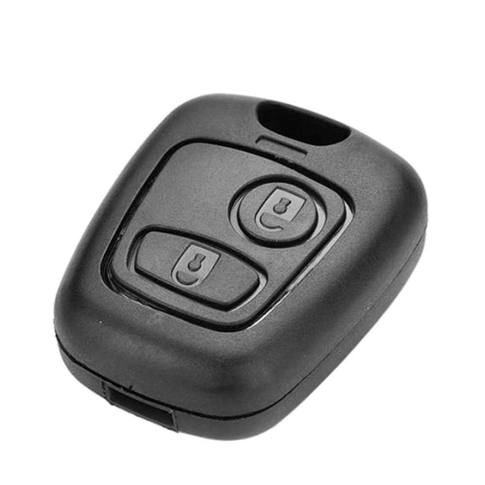 Funda-con-Botones-para-Mando-Carcasa-de-Llave-Peugeot-106-107-206-207-407-806